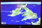 We crossed the Irish Sea and then headed over Ireland...