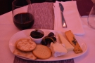Dinner was rounded off by some port and an excellent cheeseboard.