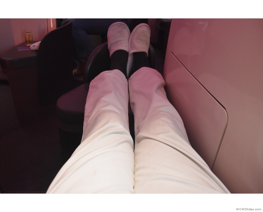We'll start with the standard test: do I have enough legroom? Yes, I do!
