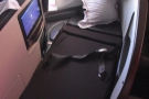 The seat, as a bed, is the most comfortable business class seat I've used.