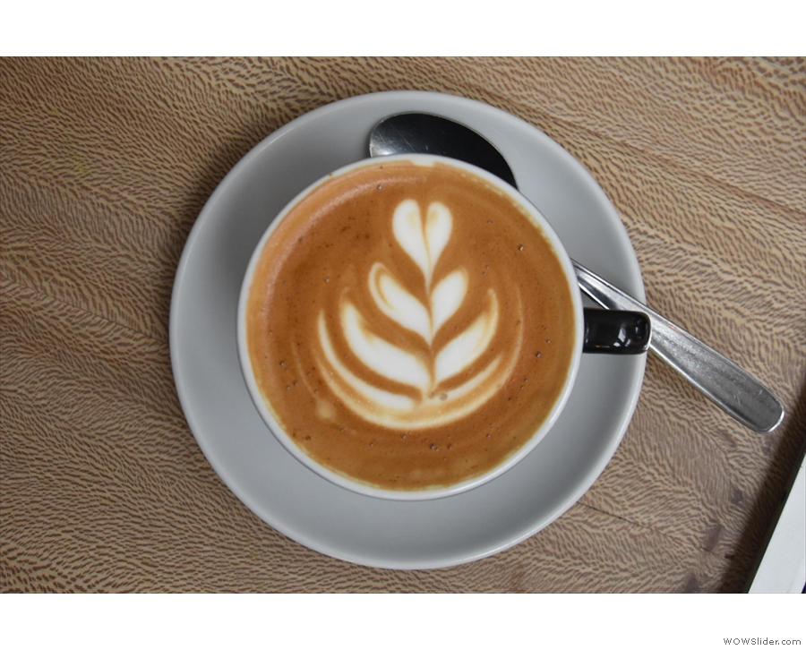 Nice latte art, by the way...