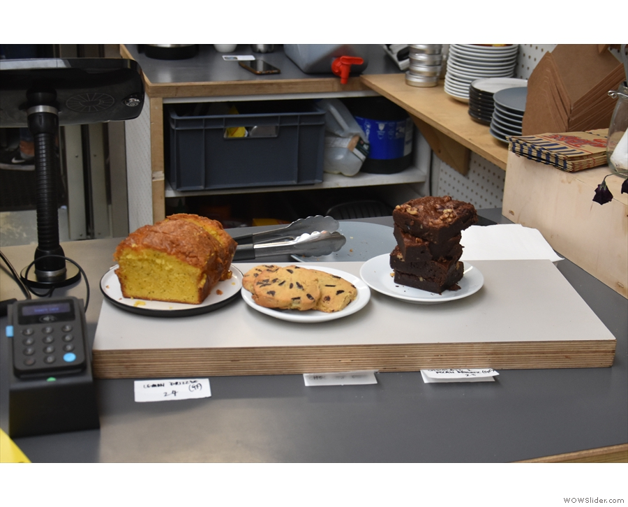 There's also a small selection of cakes.