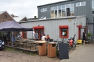 And there it is, at the back of the yard, on the left: Wood St Coffee.