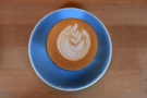 ... with some very impressive latte art. I paired this with a slice of...