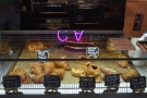 ... and pastries which take up almost the full width of the counter.