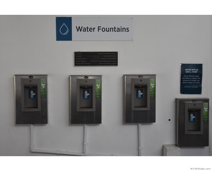 In closing, it's not just coffee. Lord's is doing a great job providing water fountains...