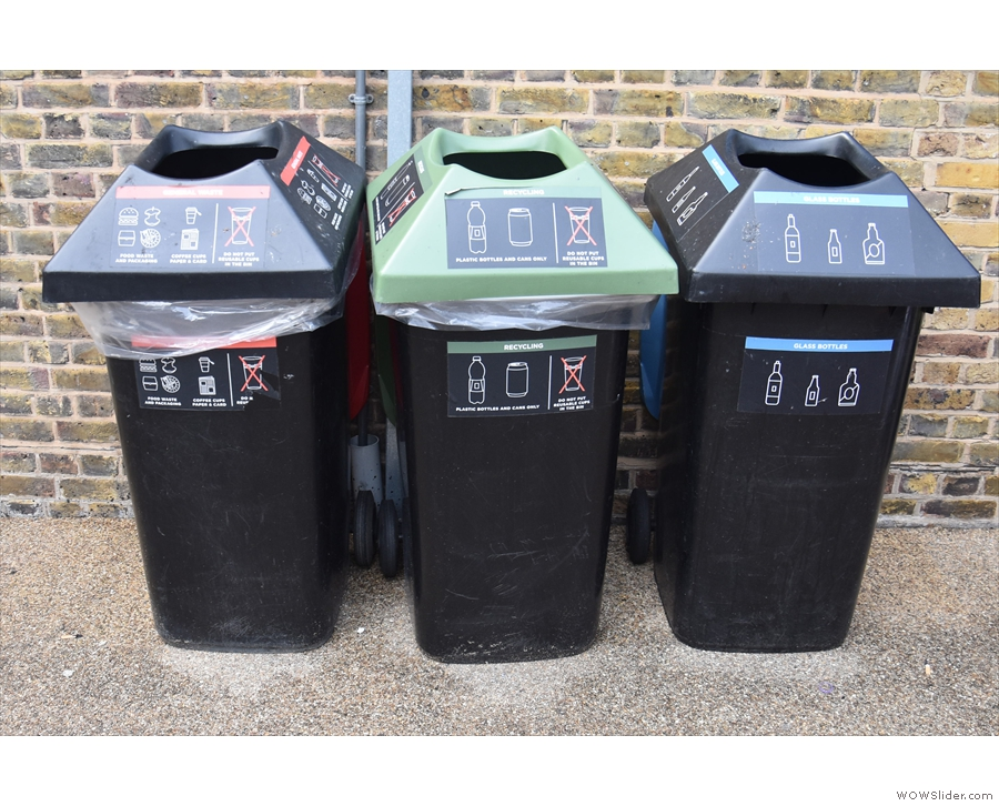 ... while there's also clearly labelled recycling facilities for all other waste.