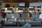 Another one with the espresso machine mounted at the back (a La Marzocco Linea)...