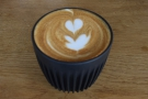 ... which formed that base for my flat white...