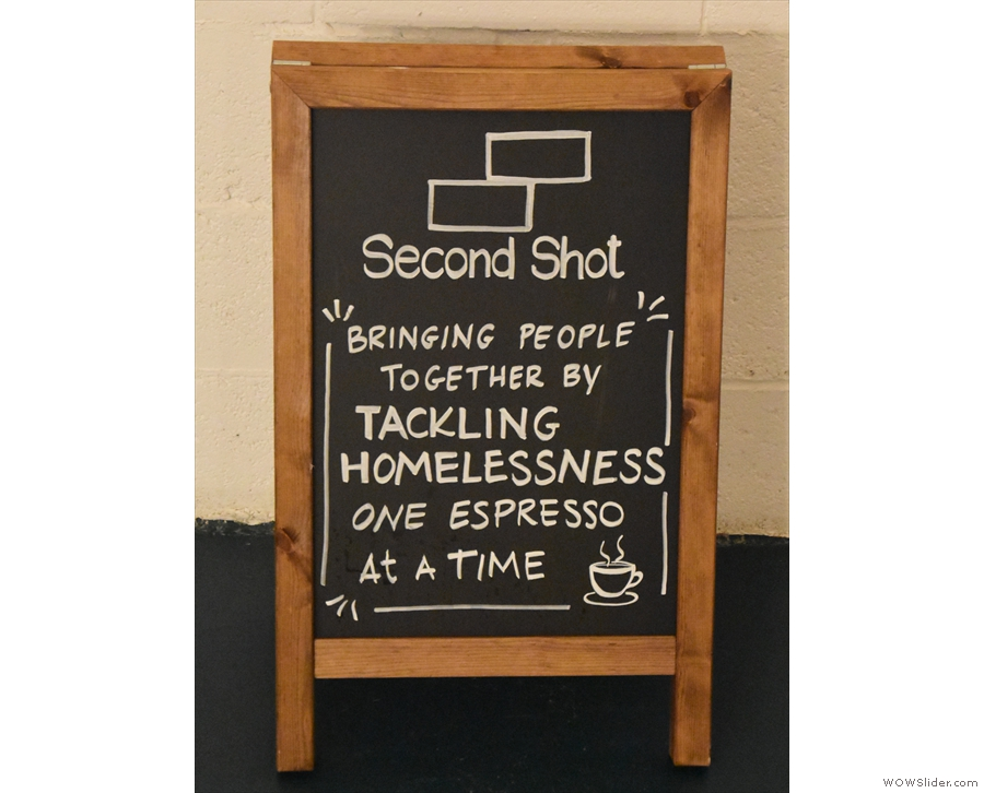 If you are wondering what Second Shot is all about, the A-board tells it how it is.