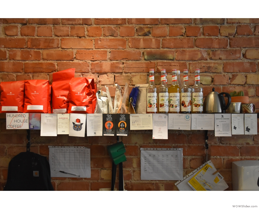 Talking of which, there are more roasters, past & present, on the wall behind the counter.