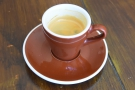 I followed this with a shot of the guest espresso, a naturally-processed Finca Licho...