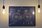 ... while this poster, a diagram of a bicycle, is at the back.