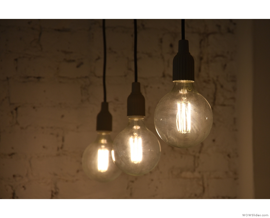 Naturally, there are lots of light bulbs, including these three...