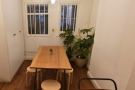 ... leaving this little nook with a five-person communal table with low stools.