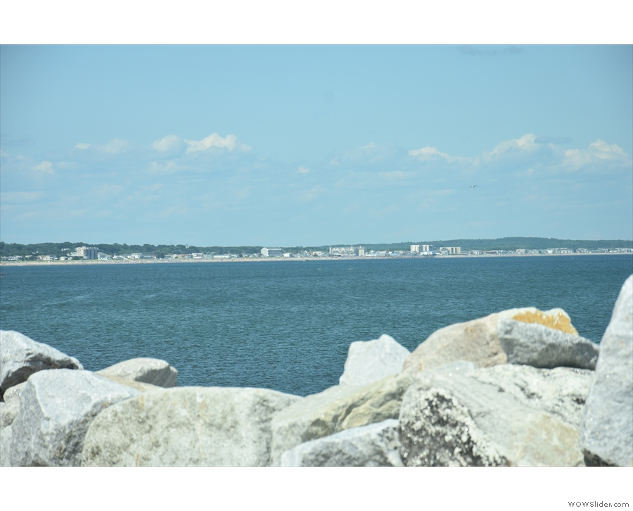 ... the southern end of Saco Bay, where you can see how developed Old Orchard Beach is!