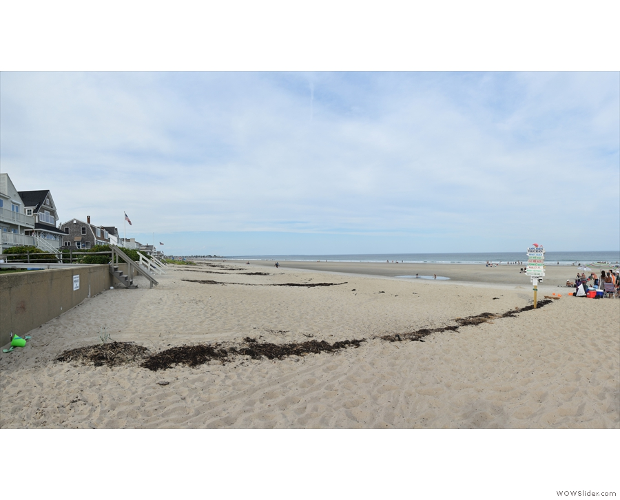 ... we reached Ogunquit Beach towards the southern end. Looking north, this beach is...