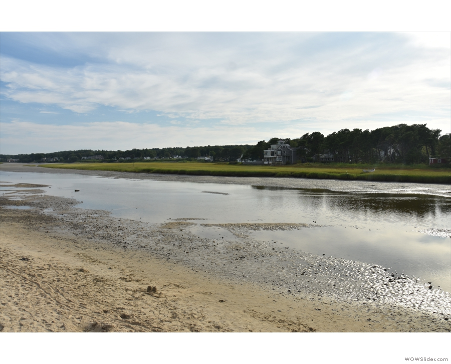 ... and on the other side, there's the Ogunquit River estuary, which means that the...