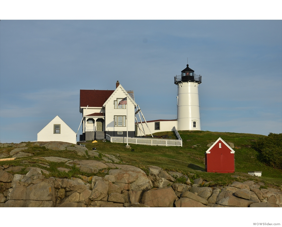 However, this is what we'd come for: Nubble Lighthouse, although what you don't get...