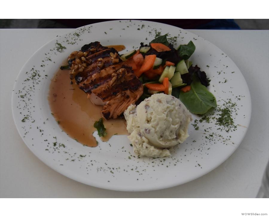 Dinner: Salmon for Amanda...