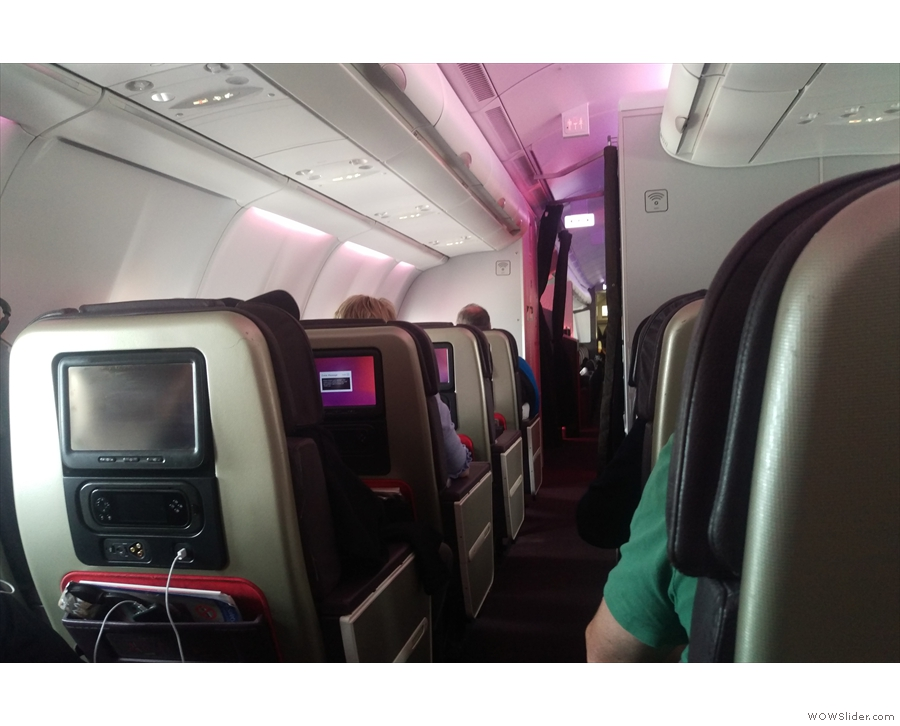 Welcome to Virgin Atlantic's premium economy and the view from my seat, 23D.