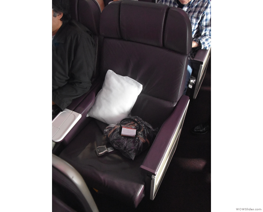 This is me, seat 23D, on the aisle in the middle of the row.