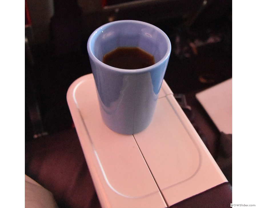 ... and Therma Cup, which can be seen here, with my coffee, back at my seat.