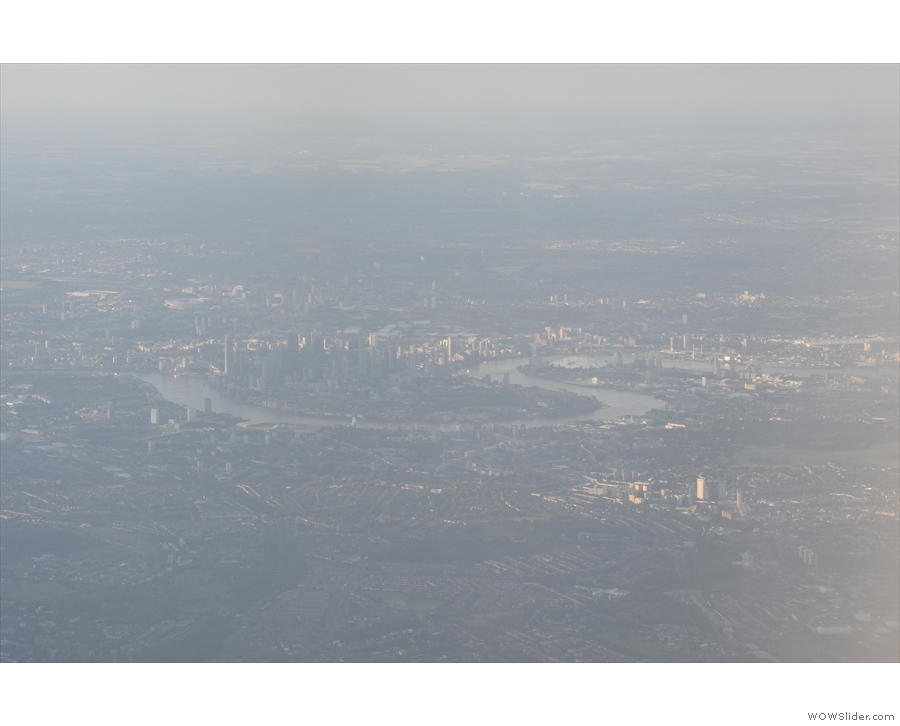... and there's Canary Wharf, the Isle of Dogs...