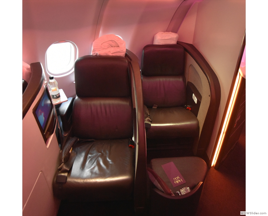 This is my seat, 9K (on the left) and the final one in the cabin (10 K) on the right.
