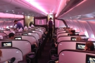 The Upper Class cabin on my Virgin Atlantic Airbus A330-300, Miss England...