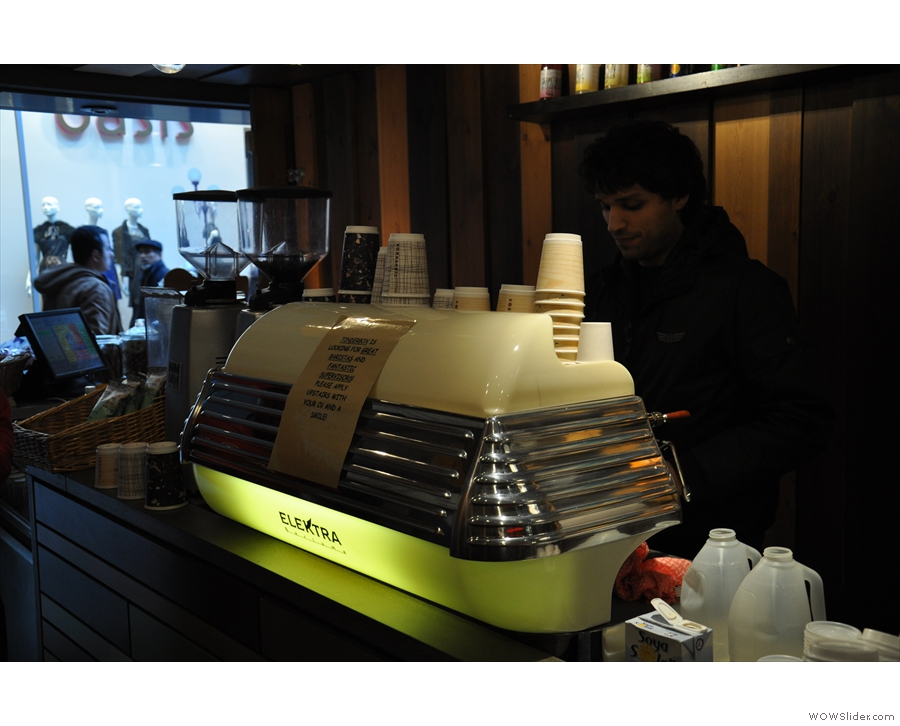 I do like the look of the Elektra espresso machine...