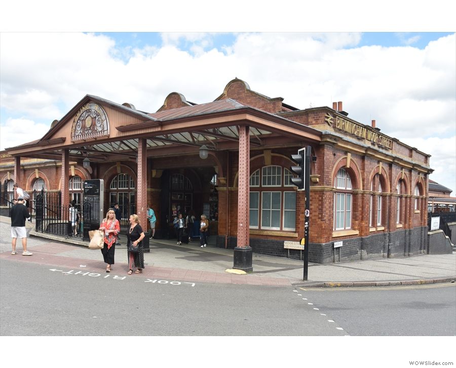 Moor Street Station, on the corner of Moor Street and Queensway in Birmingham.