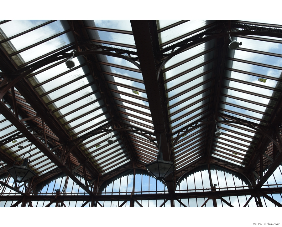 ... which is all cast-iron girders and glass panels. It's magnificent!