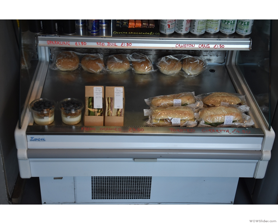 If you want something more savoury, there are plenty of options in the chiller cabinet.