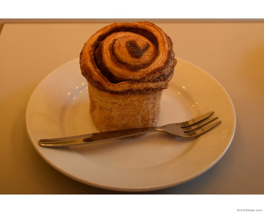 ... paired with a classic cinnamon bun, which is where I'll leave you.