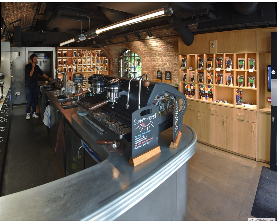 The view from the front of the counter.