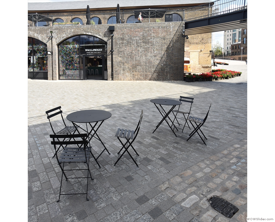 The outside seating is lovely, by the way, with views across the square.