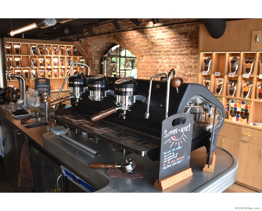 For a view of the business end of the Strada, you need to sit at the front of the counter.