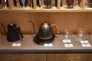 ... there's more coffee equipment, including kettles, cups and...