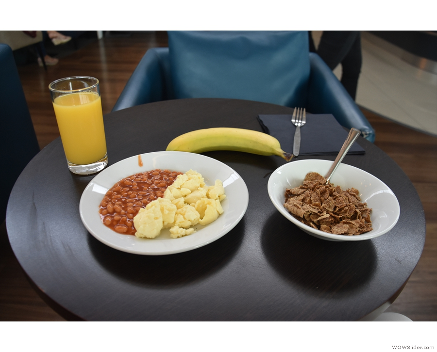 ... serving breakfast when I was there.