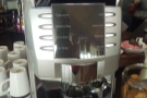 There were also these coffee machines, which had one redeeming feature: hot water...