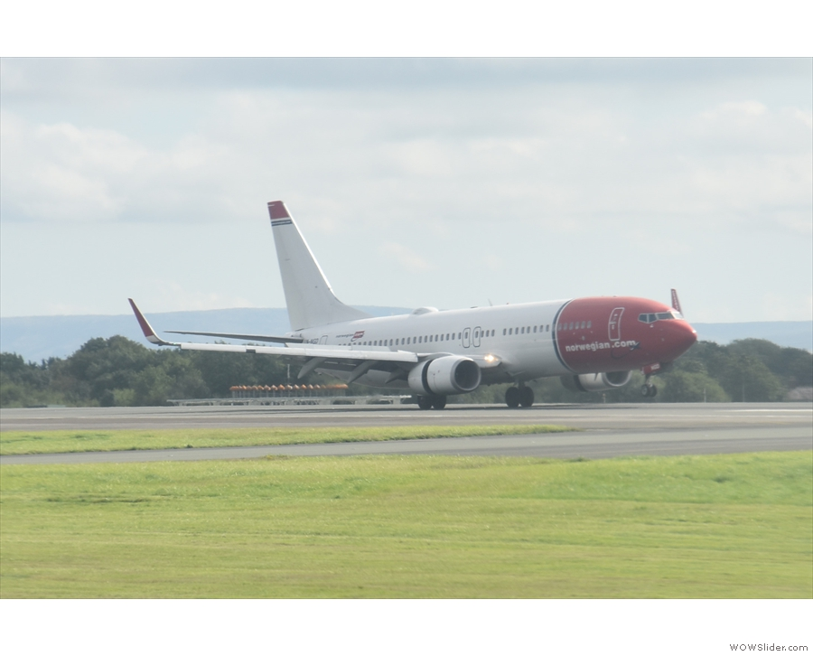And the plane (from Norweigan) is safely on the ground.
