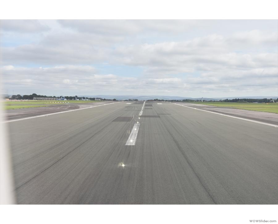 We cross the runway...