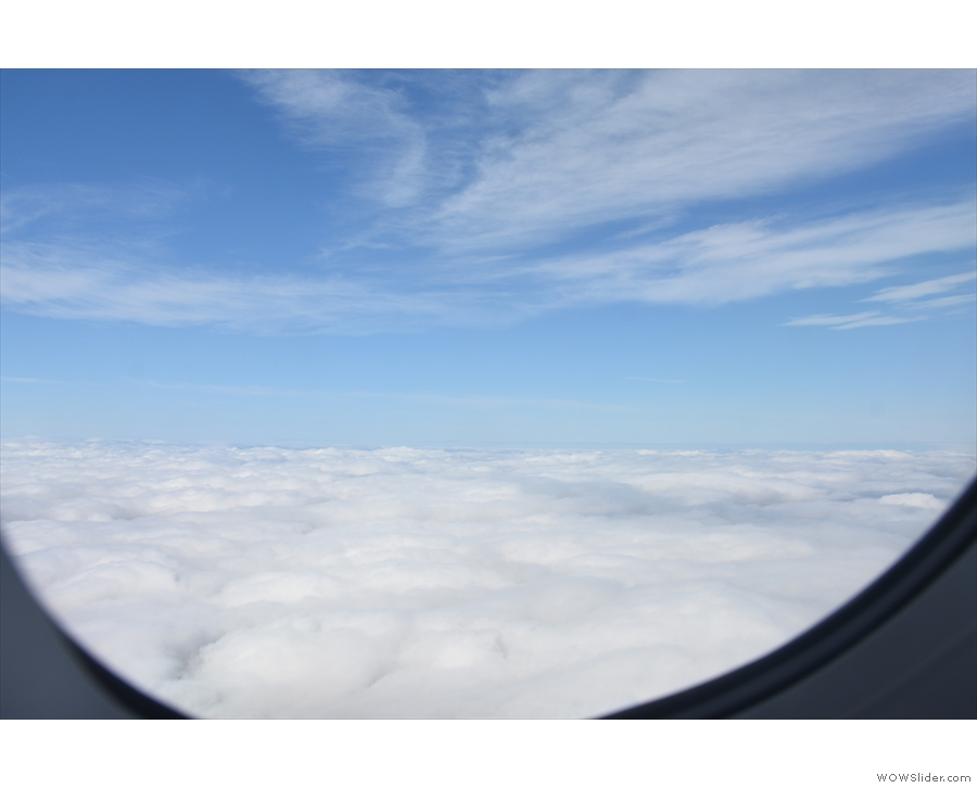 And 20 seconds later, we're above the cloud.