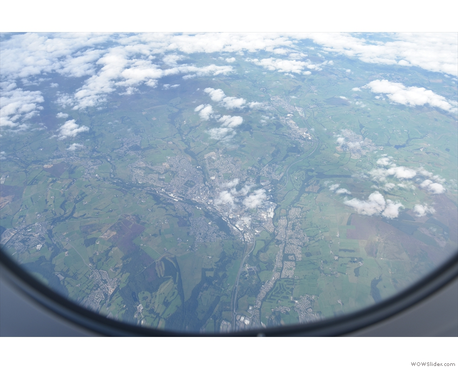 The cloud soon broke and there were some great views as we flew over the Pennines...