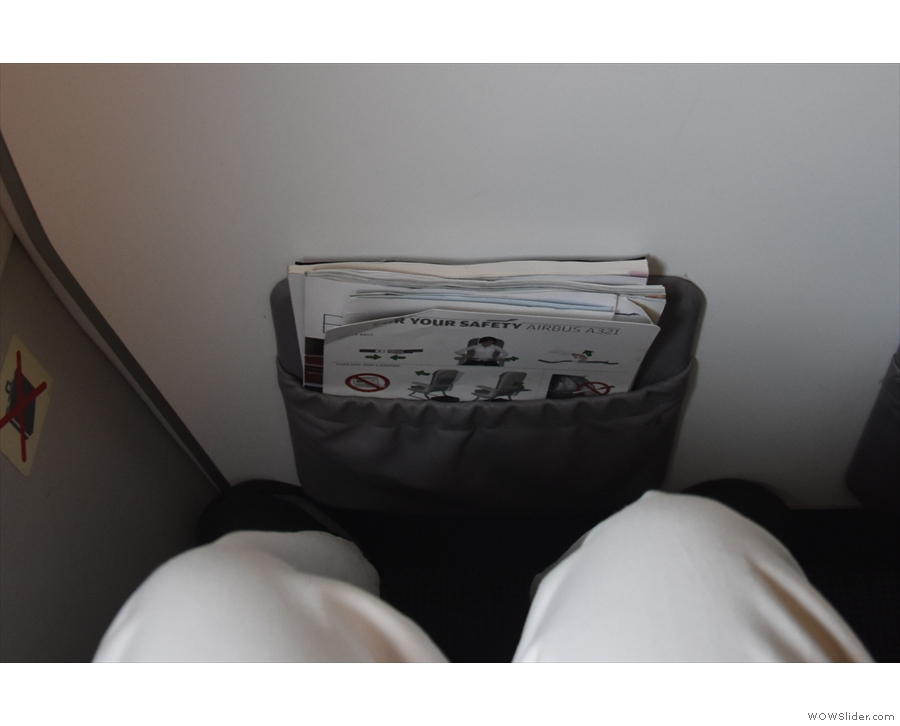 And behold my legroom. Not much, but more than enough!