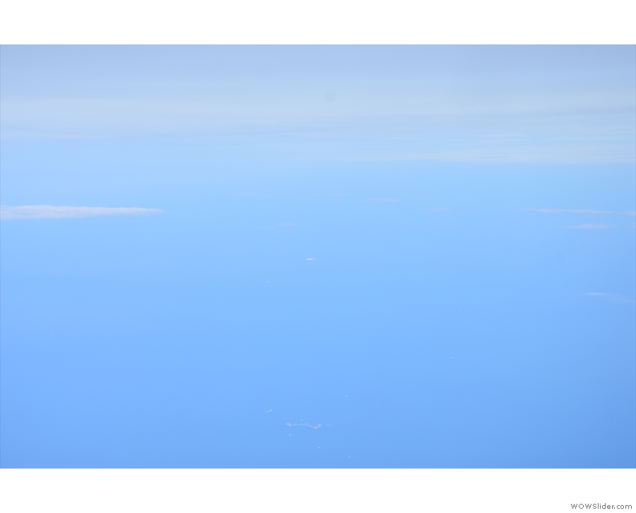 Other planes were harder to spot. Believe it or not, that dot in the middle is a plane...