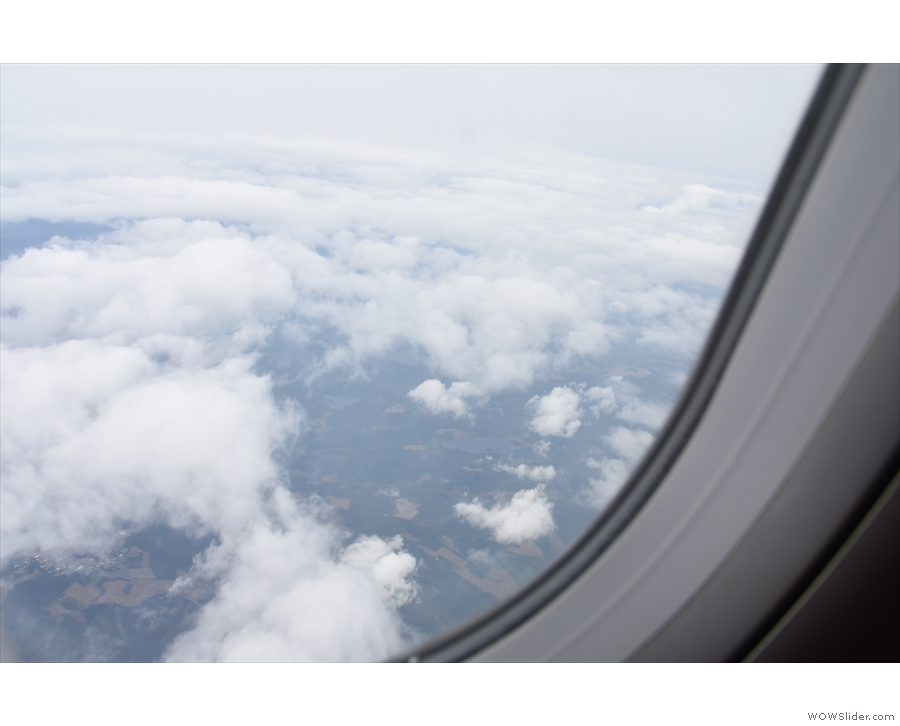 ... began our descent into Helsinki, at which point the cloud began to clear.