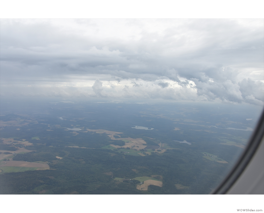 The Finnish countryside looking moody under the cloud.