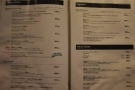 The next two pages are syphon options (left) and espresso/other drinks (right).